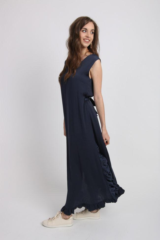 robe longue bleue