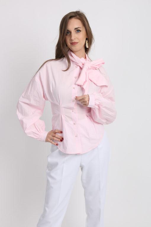 chemise rose pastel