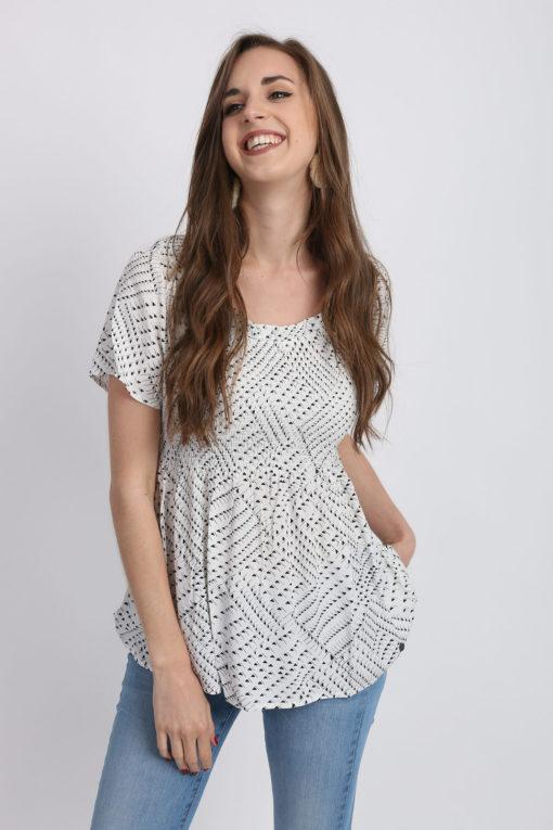 blouse graphique numph
