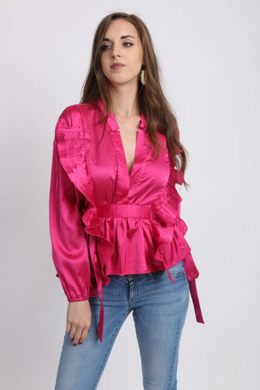 blouse fushia