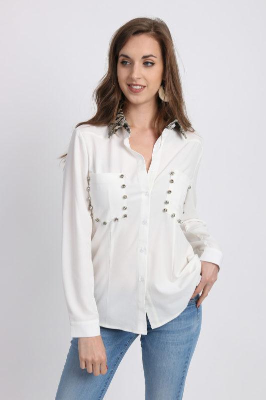 chemise femme ecru