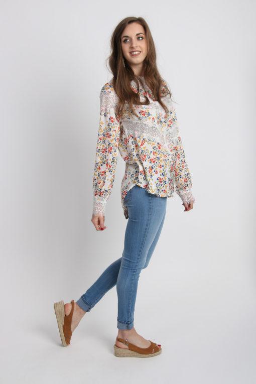 blouse legere a fleurs