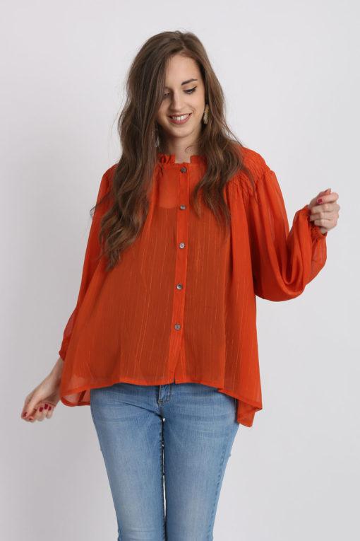 blouse orange