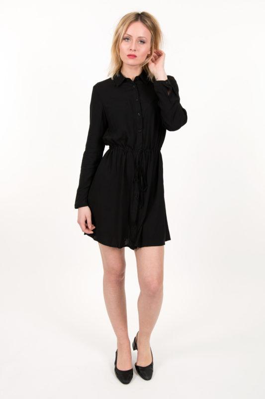 robe chemise noire