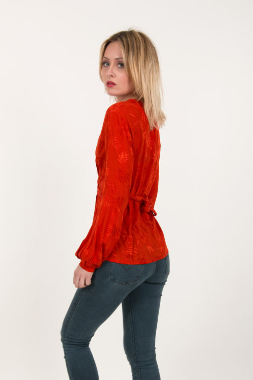 blouse rouge oxford