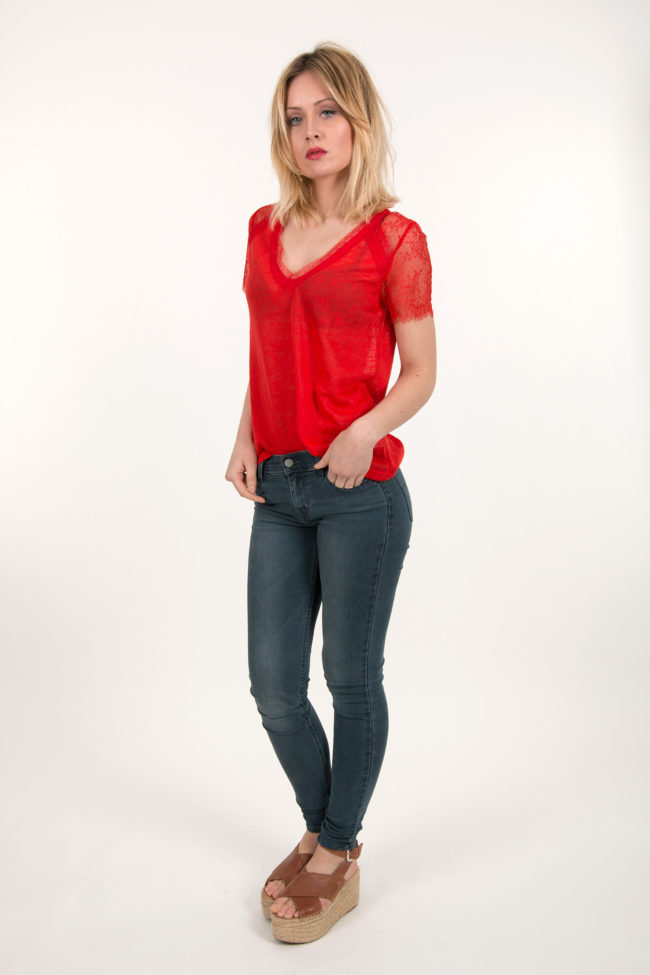 t shirt rouge CLARY