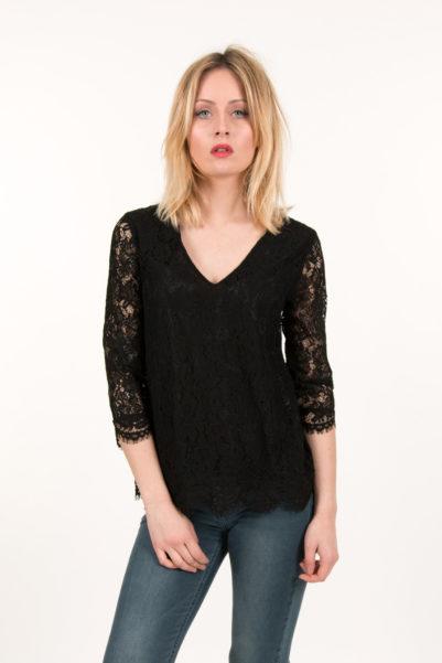 blouse cherry noir