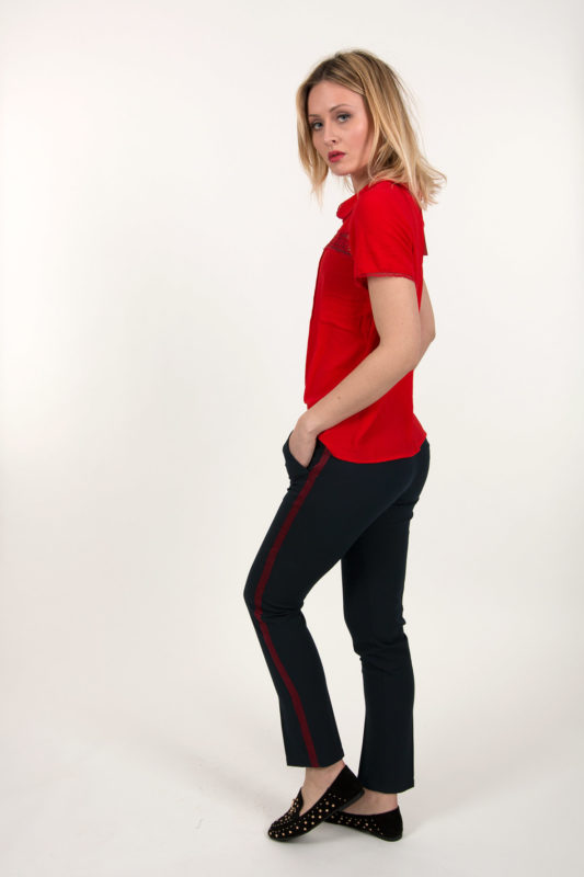 Pantalon bande rouge