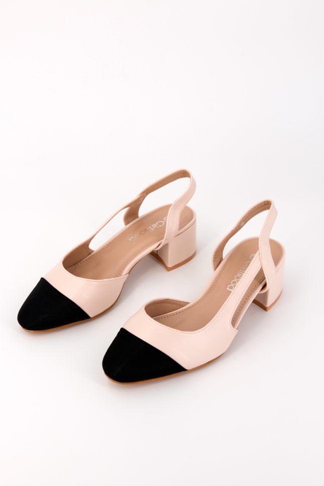 sandales bi couleurs
