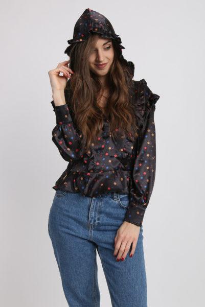 blouse capuche