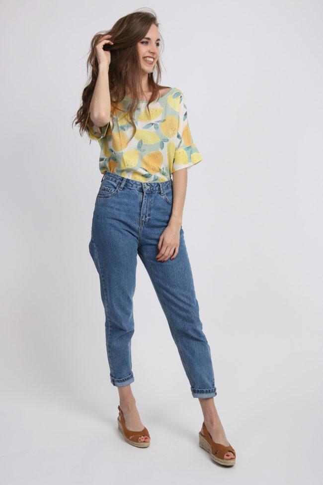 blouse numph citron