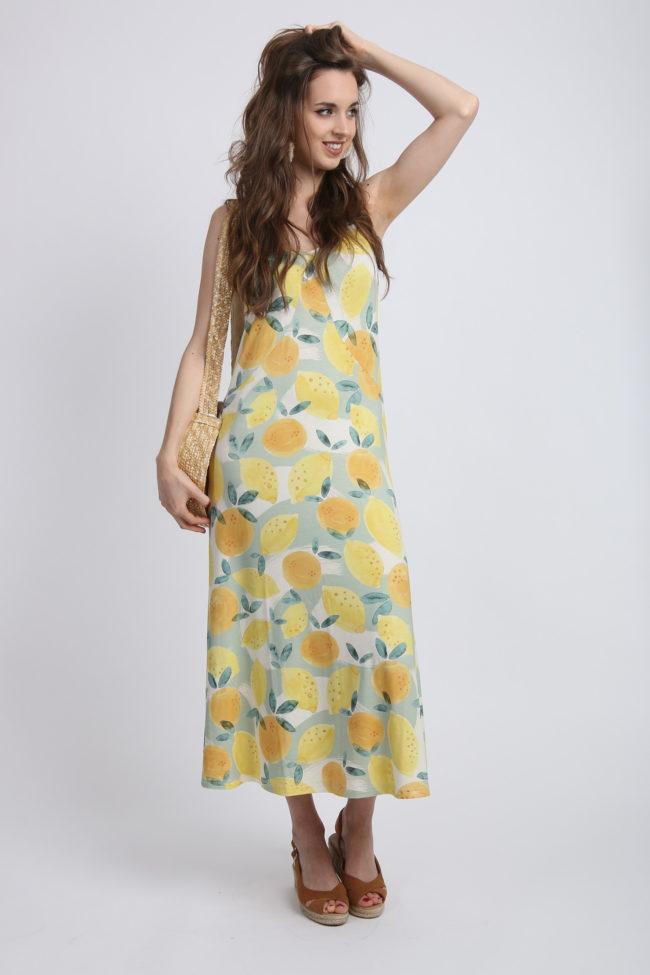 robe longue citrons