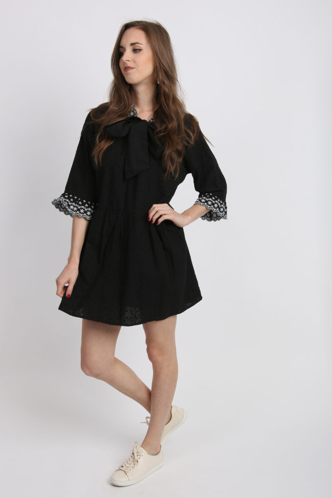 robe oversize noire