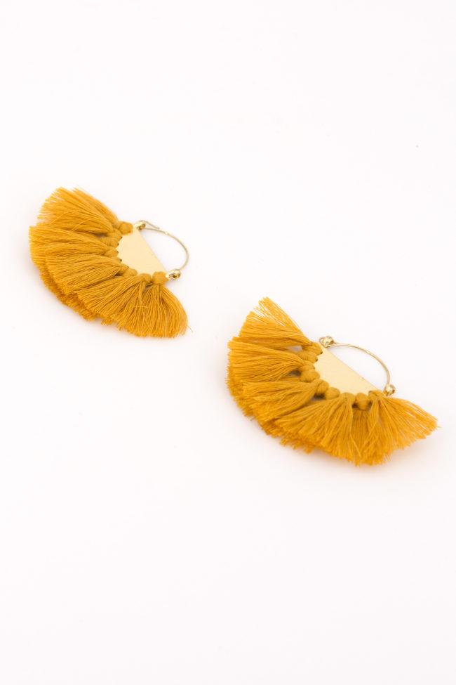 boucles d oreille ethniques jaune