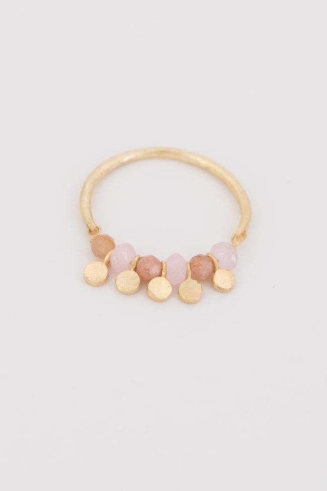 anneau-perles-roses