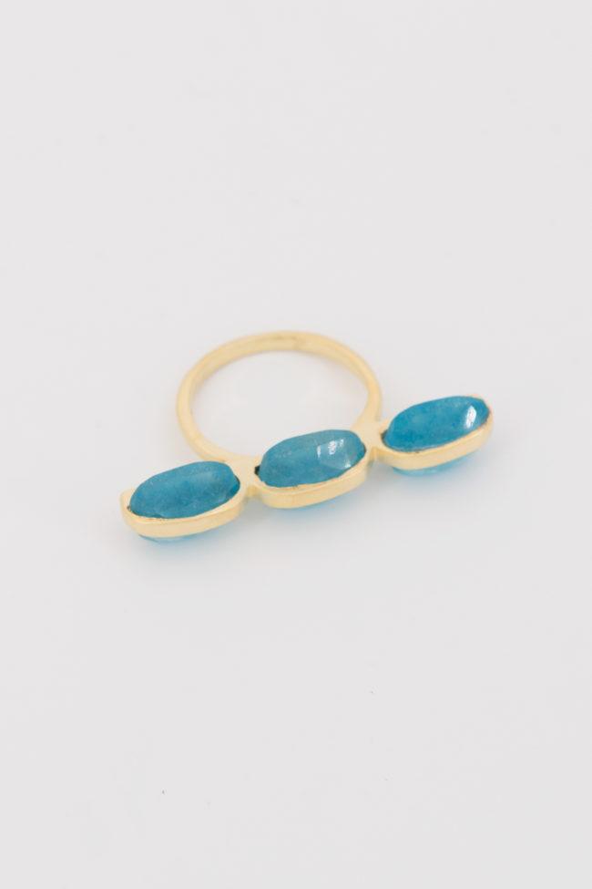 Bague baguette plural bleu
