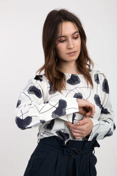 blouse a fleurs