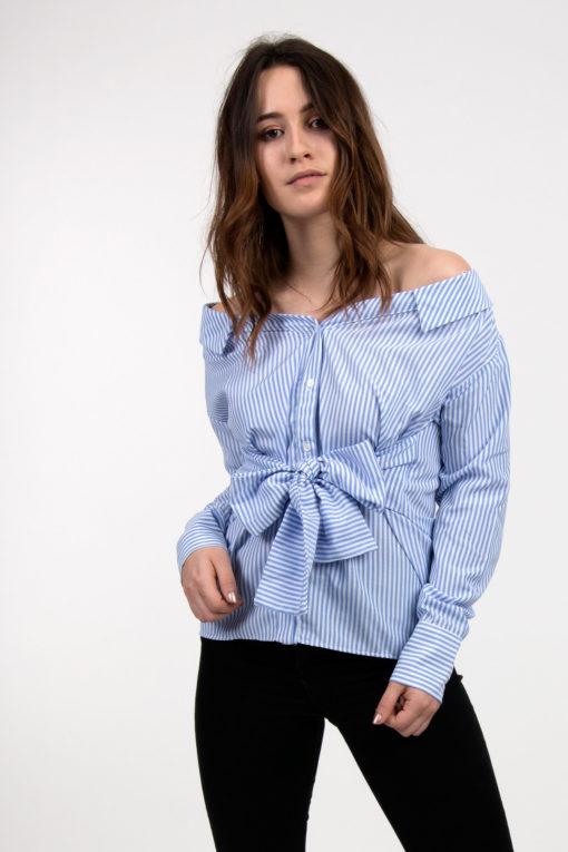 chemise rayée bleue