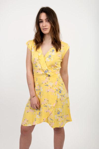 robe a fleurs jaune
