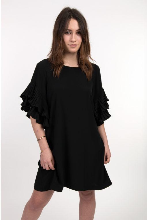 robe-noire-manches-volants-bsb