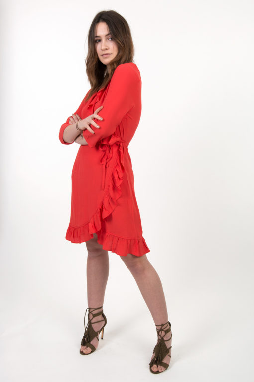 robe-rouge-volants