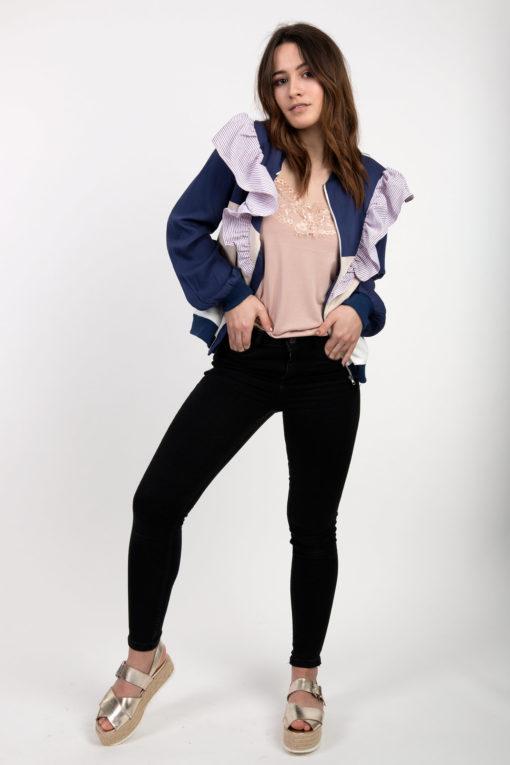 ruffled jacket
