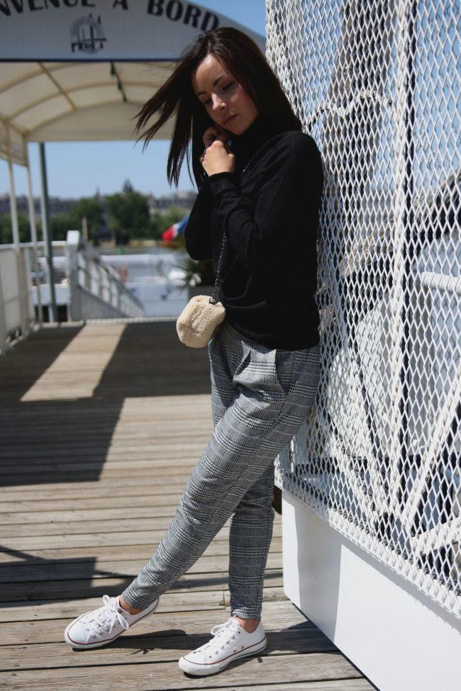 pantalon pied de poule ichi 2