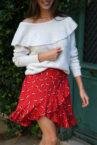 jupe à fleurs trudie