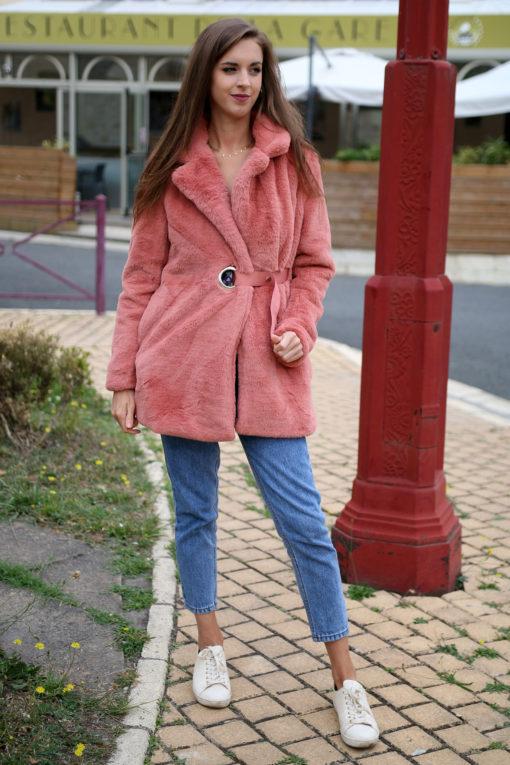 Manteau rose blush 4