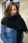 echarpe noire oversize 3