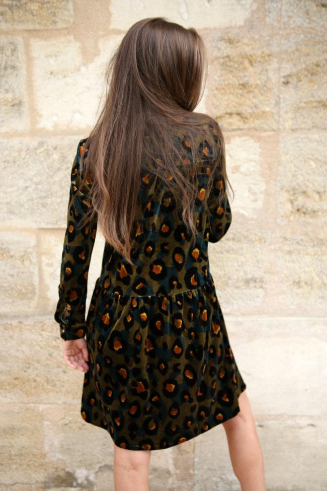 robe velours leopard 3
