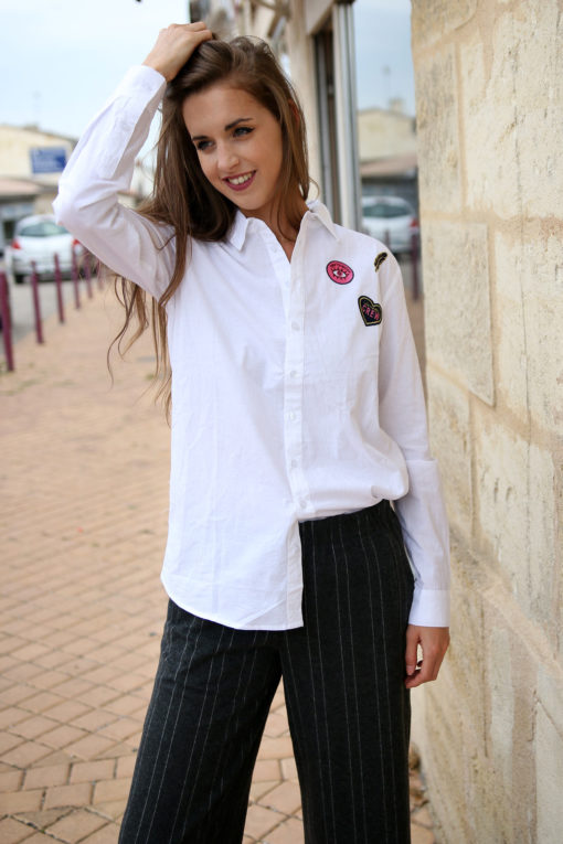 chemise blanche patch 2