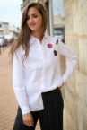 chemise blanche patch