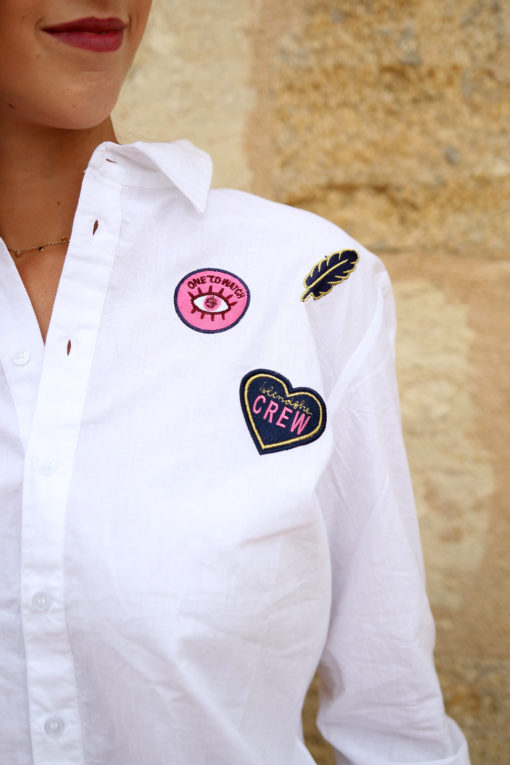 chemise blanche patch 3