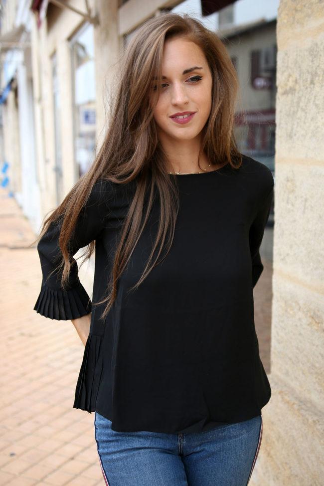blouse noire Palace