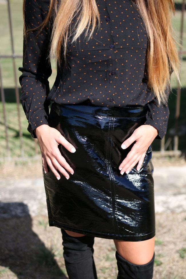 jupe noire vinyle 2