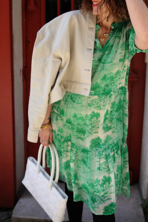 robe toile de jouy
